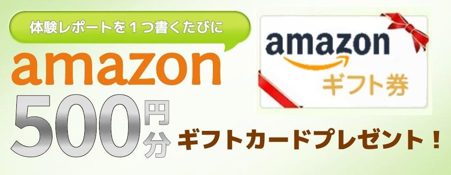 クチコミを投稿してくれた方にAmazonギフト券・スタバギフト券500円分プレゼント!