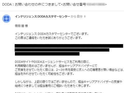 dodaからのメール