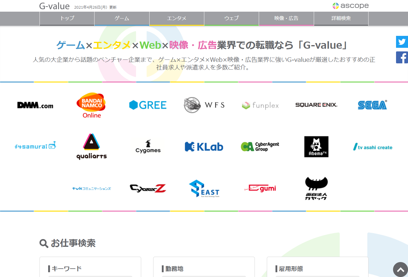 G-valueのサイト