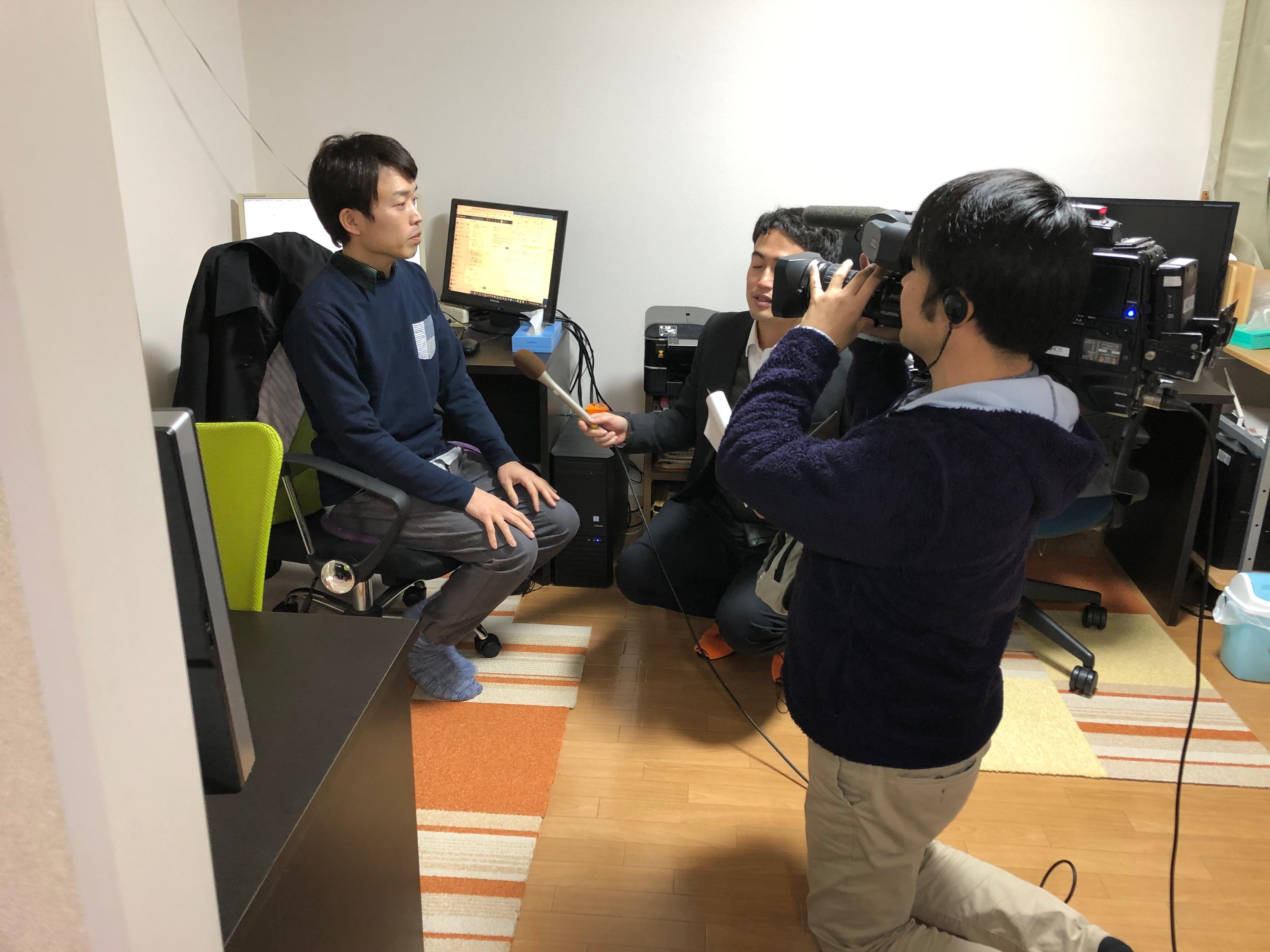 日本海テレビさんの取材を受けました!