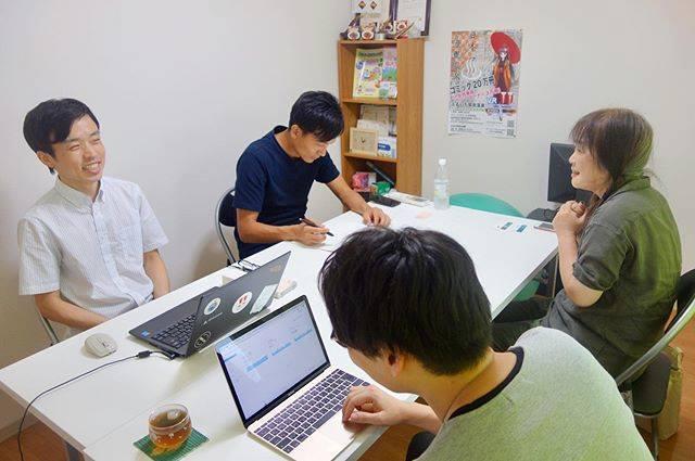 鳥取の和紙などを使った浮世絵アートを手掛ける岩田さんとホームページ制作の打ち合わせをしました!