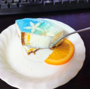 Webもり本日のおやつTIME!海を思わすチーズケーキ「Cheese Marine」をいただきました!